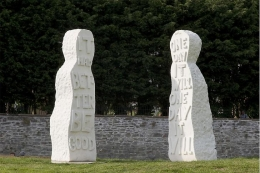 """The Couple,"" public installation, 2009. St. Paul's Park, Bristol."