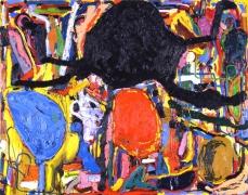Nicht fürchten! (2) (Don't Be Scared! (2)), 2010. Oil on canvas, 87 X 110 1/4 inches (221 x 280 cm). MP 44