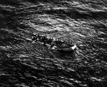 Untitled (Refugees Moonbird Sighting, Mediterranean Sea; May 5, 2017), 2019.