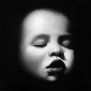 Untitled (Damien), 2007. Charcoal on paper, 70 x 70 inches (image) (177.8 x 177.8 cm); 74-1/2 x 74-1/2 inches (frame) (186.7 x 186.7 cm). MP D-801