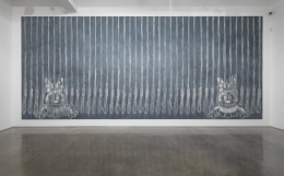 Here's ... Honey, 1992. Wall drawing installation, 153 x 356 1/2 inches (388.6 x 905.5 cm).