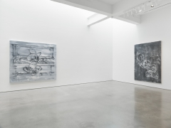 """Gary Simmons exhibition """"Screaming into the Ether"""" installation view."""