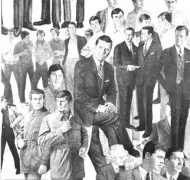 Drawn Painting (Male models in groups), 2000. Pencil on gesso on wood, 45 3/4 x 48 x 1 3/4 inches. MP 132