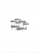Google, 2009. Graphite on paper, 11 x 8 1/2 inches (27.9 x 19.1 cm)