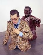 Quicksand, 2005. Fiberglass, magisculpt, fabric, oil paint. Jim: 33 x 31 x 16 inches (83.8 x 78.7 x 40.6 cm); Zombie: 36 x 30 x 34 inches (91.4 x 76.2 x 86.4 cm); combined: 36 x 31 x 37 inches (91.4 x 78.7 x 94 cm). MP 158