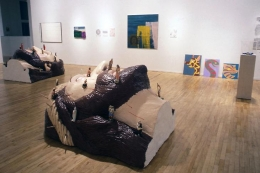 """The Sleep of Reason,"" installation view, 1996. Metro Pictures, New York."