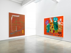 André Butzer. Installation view, 2019. Metro Pictures, New York.