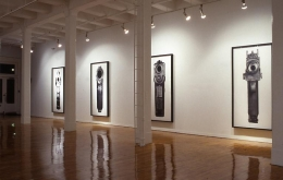 """""""Bodyhammers: Cult of the Gun,"""" installation view, 1993. Metro Pictures, New York."""