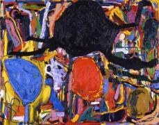 Nicht fürchten! (2) (Don't Be Scared!) (2), 2010. Oil on canvas, 87 X 110 1/4 inches (221 x 280 cm).