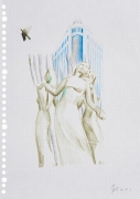 Untitled, 2014. Color pencil on paper.