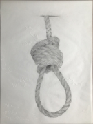 DG Krueger, Conversational Tools, graphite on vellum, noose #4, vanishing acts