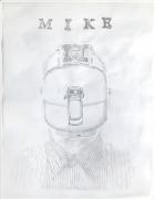 Conversational Tools, DG Krueger, drawings on vellum, suicide tools, Mike, vanishing acts
