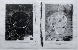 Verbiage Urns,Verbiage Urn_Diptych_Nos. 19 & 37, DG Krueger, embellished screenprints