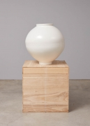 Moon jars by Korean master ceramicist Kang Minsoo, Imcomplete Perfection present by Vintage 20 at Tina Kim Gallery