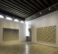 Installation View of Dansaekhwa in Venice:Collateral Event of the 56th International Art Exhibition. Image by Fabrice Seixas.