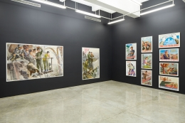 Installation View of Crow's Eye View: The Korean Penninsula Curated by Minsuk Cho. Image by Jeremy Haik.