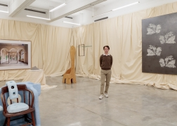 Curator Adam Charlap Hyman of Charlap Hyman & Herrero, Installation view of For Mario at Tina Kim Gallery, 2019