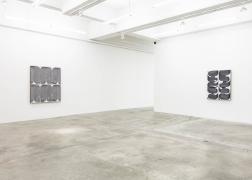 Installation view of Davide Balliano's work at Tina Kim Gallery, Painting, 2019