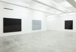 Installation View of Ecriture: Black and White by Park Seo-Bo. Image by Jeremy Haik.
