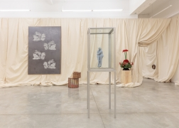 Installation view of For Mario at Tina Kim Gallery, 2019