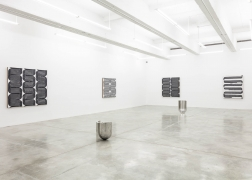 Installation view of Davide Balliano's work at Tina Kim Gallery, Painting, Sculpture, 2019