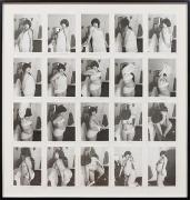Striptease (1976) Silver gelatin prints in 20 parts (unique)