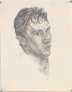 Self Portrait, 1977, Pencil on paper