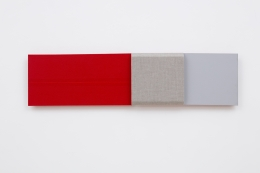 Red Measure, Muted Gray, 2017