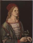 Self Portrait after Albrecht Dürer, 1996, Oil On Canvas