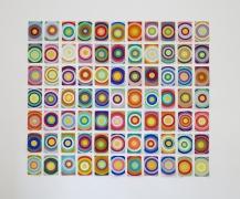 Sun Targets, 2018, Gouache on paper