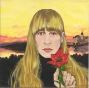 Self Portrait After Joni Mitchell, 1996, Oil On Canvas