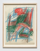 """Study for """"Barrier Series"""", c. 1961, Oilstick on paper"""
