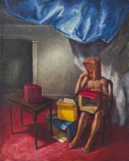 Boxes, 1990 Oil on canvas