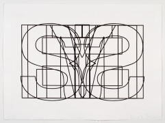 Symmetrical Jails, 2014, Etching in 7 parts, 22.25h x 29.75w in (56.52h x 75.57w cm) each