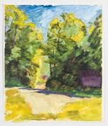 Study II, 1991, Oil on gessoed paper