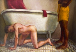 Red Face Cloth, 1989, Oil on canvas