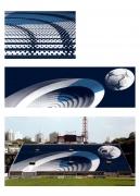 Digital rendering forSupersonic Goal(Pacaembu Stadium, São Paulo, Brazil), 2004