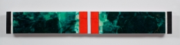 Ribbons of Honor #2, 2009, Acrylic collage on panel