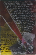 Evvive il Coltello, 1985, Acrylic with mixed media on paper