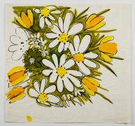 "Tulips & Daisies, from the ""Florals"" series [039], c. 1971, Watercolor On Paper"