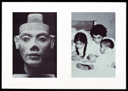 Miscegenated Family Album (Motherhood), L: Nefertiti; R: Devonia reading to Candace and Edward, Jr., 1980/1994, Cibachrome prints, 26h x 37w in (66.04h x 93.98w cm)