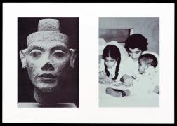 Miscegenated Family Album (Motherhood), L: Nefertiti; R: Devonia reading to Candace and Edward, Jr., 1980/1994, Cibachrome prints, 26h x 37w in (66.04h x 93.98w cm)