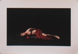 "Self Portrait after Caravaggio's ""St. John the Baptist"", 2007, Archival digital print on canvas, 19h x 13w in (48.26h x 33.02w cm)"