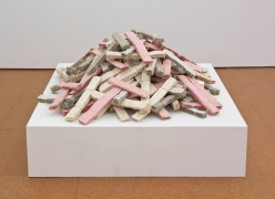 Stapled Cardboard & Cotton Rope, 1986, Mixed Media