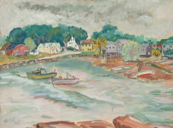 Rockport (1943) Graphite and gouache on paper