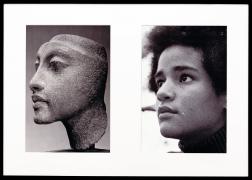 Miscegenated Family Album (Sisters III), L: Nefertiti's daughter, Maketaten; R: Devonia's daughter, Kimberley, 1980/1994, Cibachrome print, 26h x 37w in (66.04h x 93.98w cm)