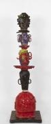 William J. O'Brien, Untitled, 2014, Glazed ceramic and steel