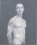 Self Portrait with Dagmar Tattoo, 2005, Oil on linen