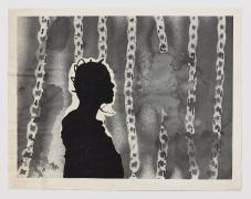 Untitled Portrait of Jayne, c.1974, Spray paint on paper