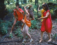 Rivers, First Draft: The Debauchees dance in place, and the Woman in Red catches up to them, 1982/2015, Digital C-print in 48 parts, 16h x 20w in (40.64h x 50.80w cm)